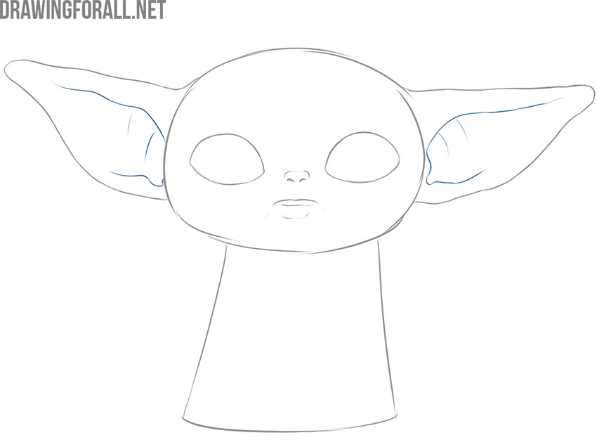 How to draw baby Yoda meme