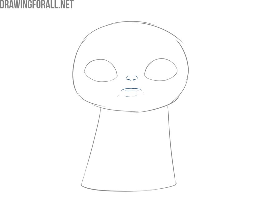 How to draw baby Yoda step by step easy