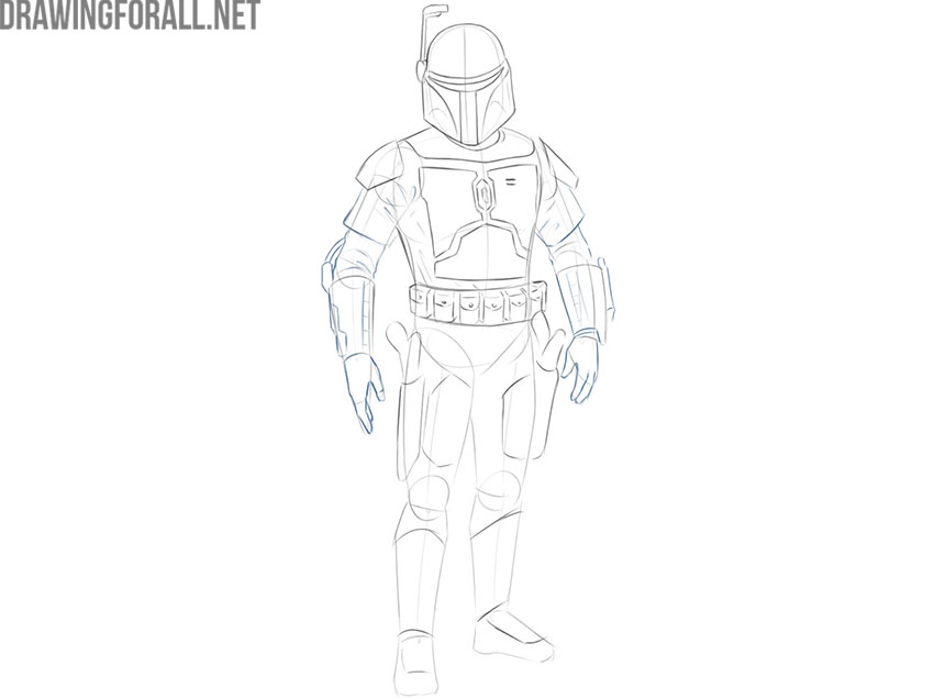 Jango Fett drawing step by step