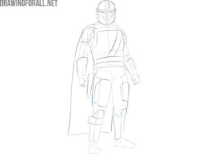 The Mandalorian drawing easy