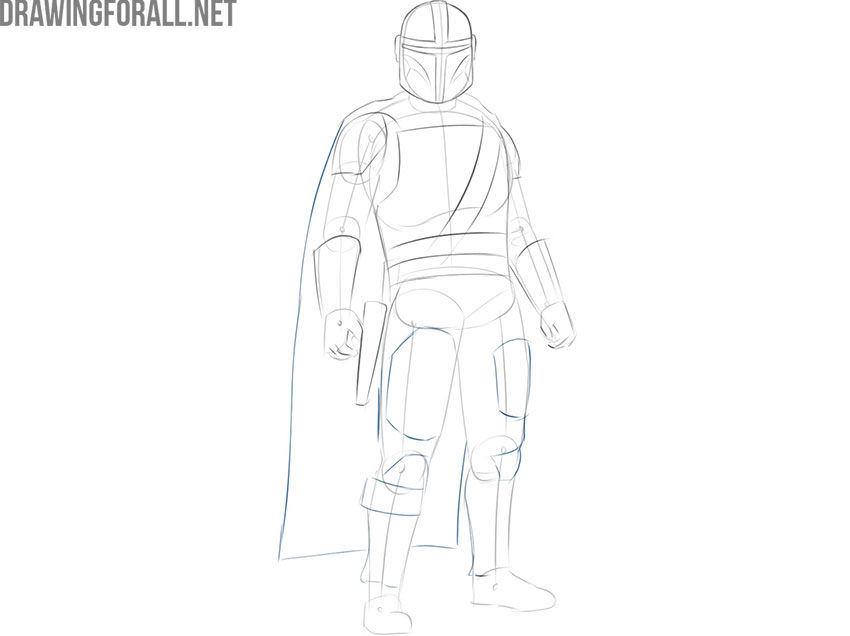 The Mandalorian drawing easy