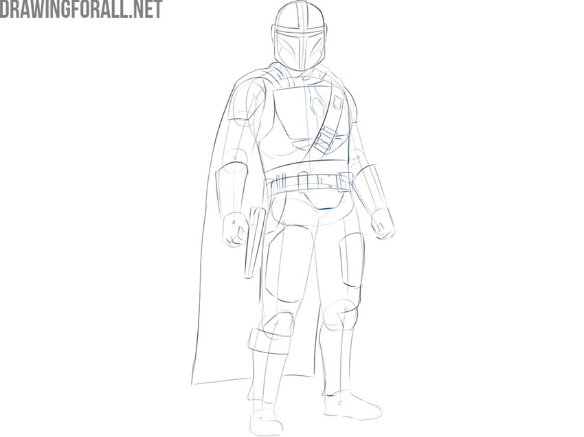 The Mandalorian drawing step by step