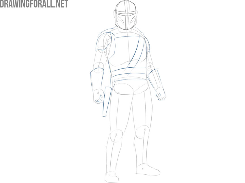 The Mandalorian drawing