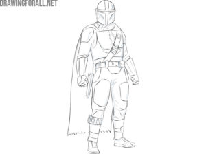 The Mandalorian from star wars drawing easy