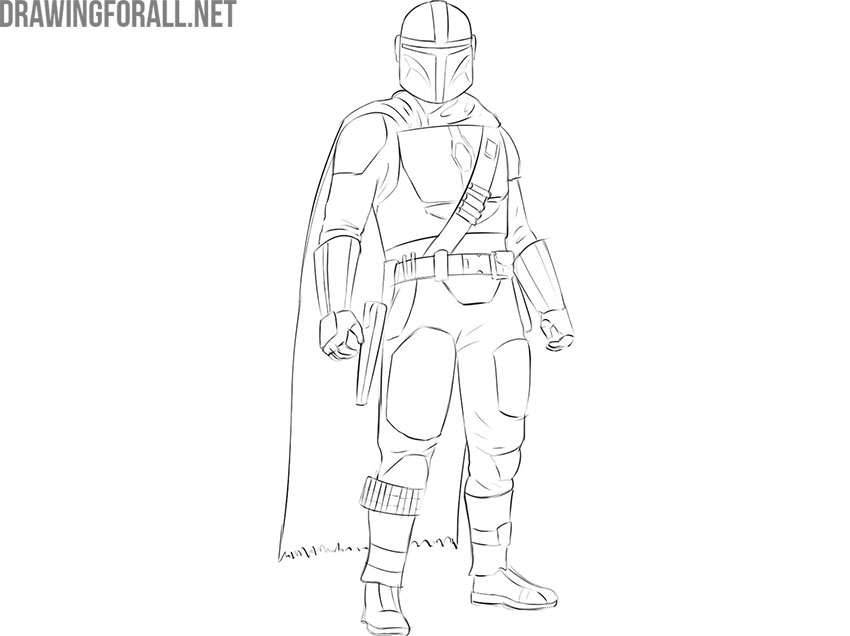 The Mandalorian from star wars drawing