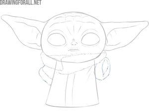 baby yoda drawing easy