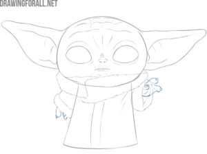 baby yoda drawing easy step by step