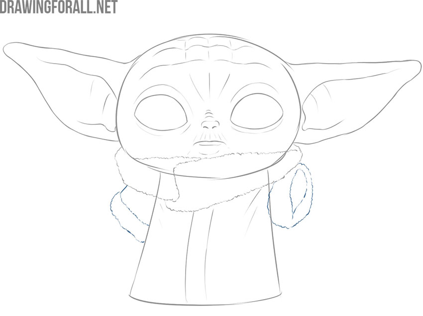 baby yoda drawing easy