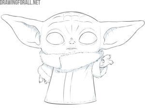 baby yoda drawing guide