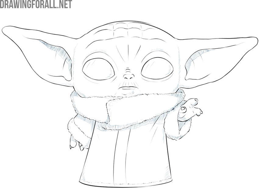 baby yoda drawing guide