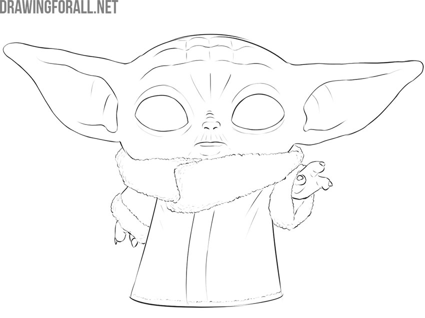 baby yoda drawing step by step