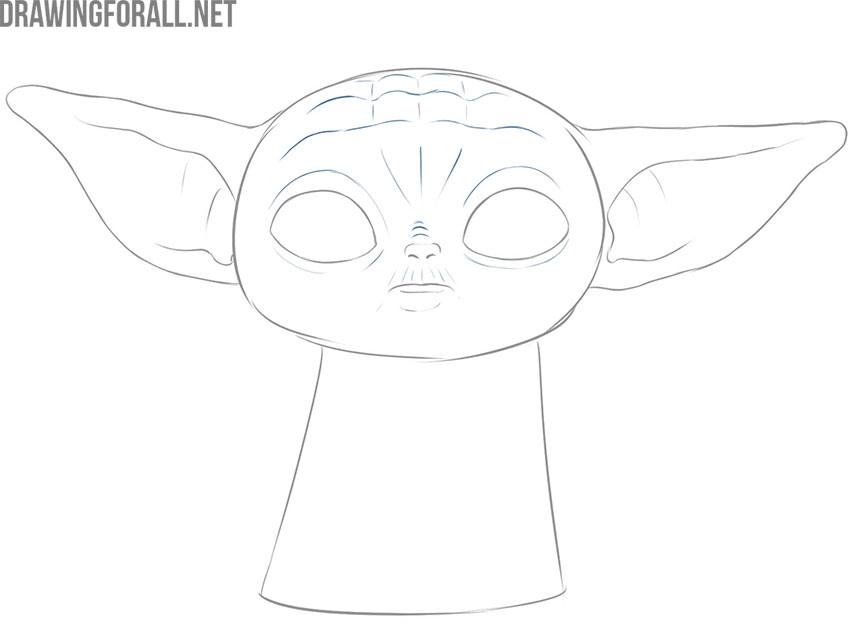 baby yoda drawing tutorial