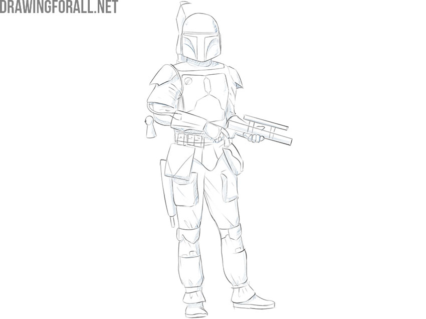 How to Draw Boba Fett | Drawingforall.netBoba Fett Drawing Tutorial
