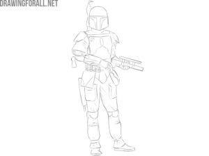 boba fett easy drawing guide