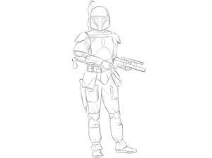 how to draw boba fett step by step for kids