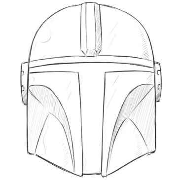 How to Draw the Mandalorian Helmet