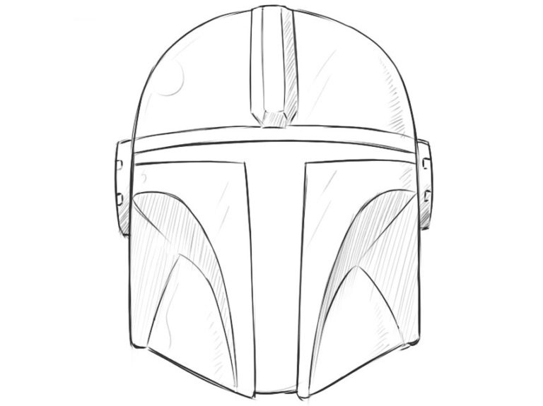 How to Draw the Mandalorian Helmet
