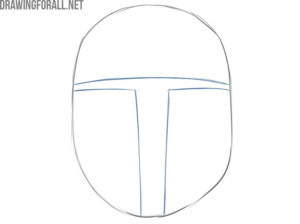 how to draw mandalorian helmet easy step by step