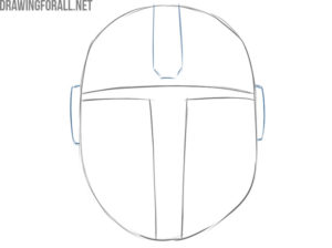 how to draw mandalorian helmet from star wars