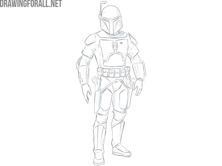 jango fett from star wars drawing