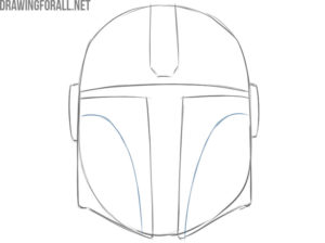 the mandalorian helmet drawing step by step