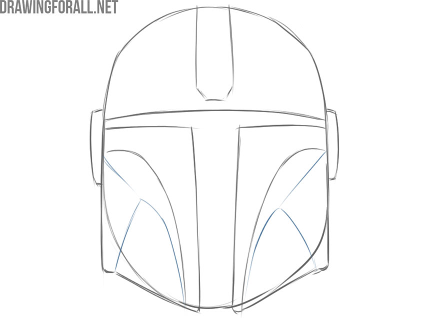 the mandalorian helmet drawing step by step easy