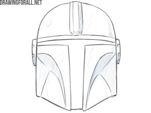 the mandalorian helmet easy drawing