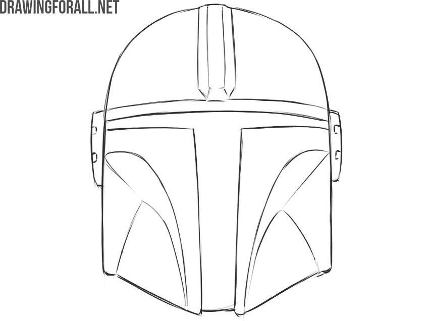 the mandalorian helmet easy drawing guide