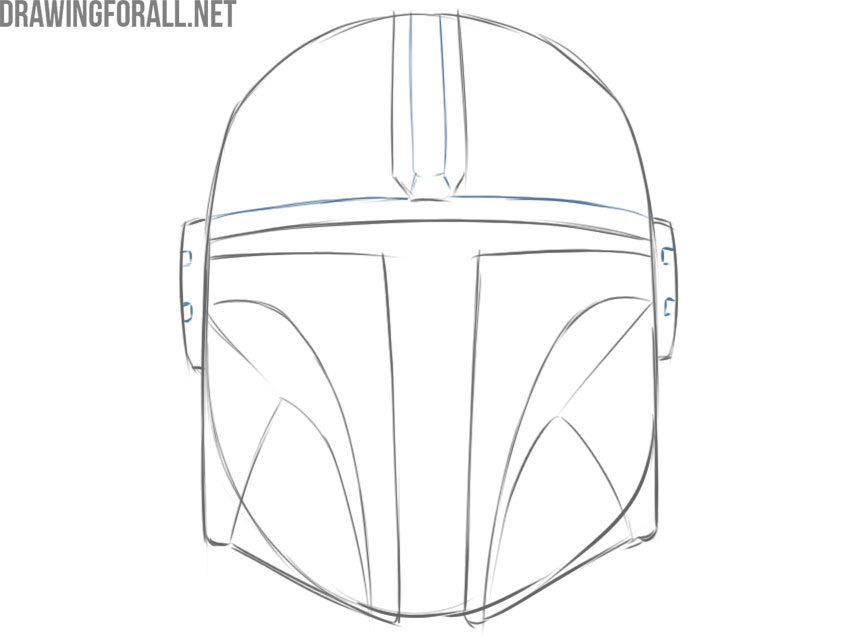 the mandalorian helmet easy drawing tutorial