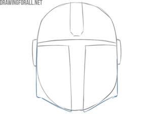 the mandalorian helmet from star wars drawing