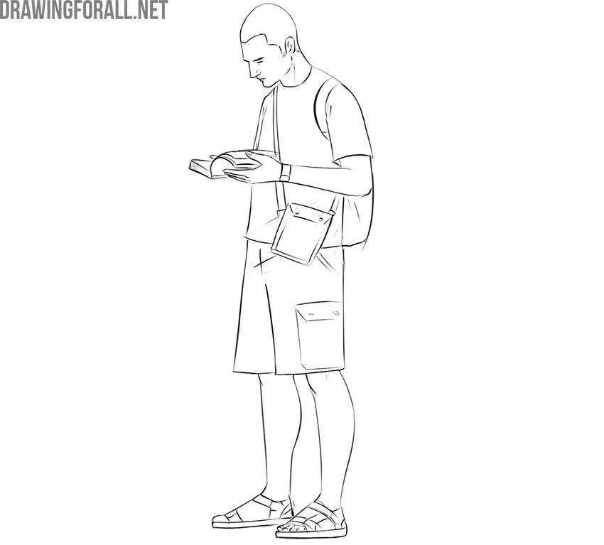 Tourist drawing tutorial