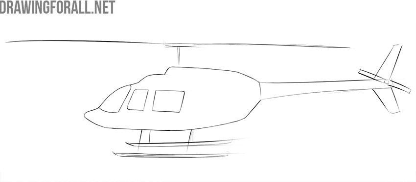 How to draw a helicopter easy
