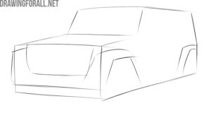 How to draw a jeep easy