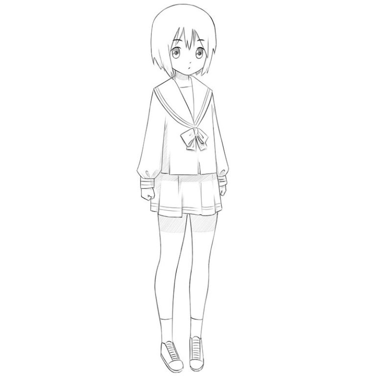How to Draw an Anime Girl Easy