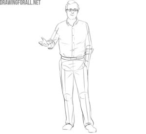 Learn how to draw a Professor