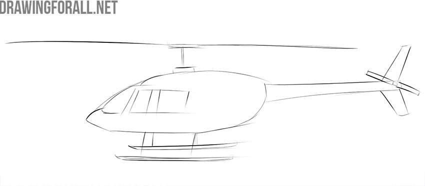 Learn how to draw a helicopter