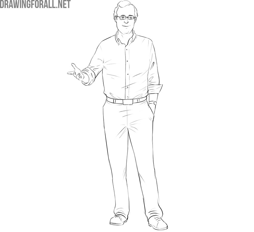 Professor drawing