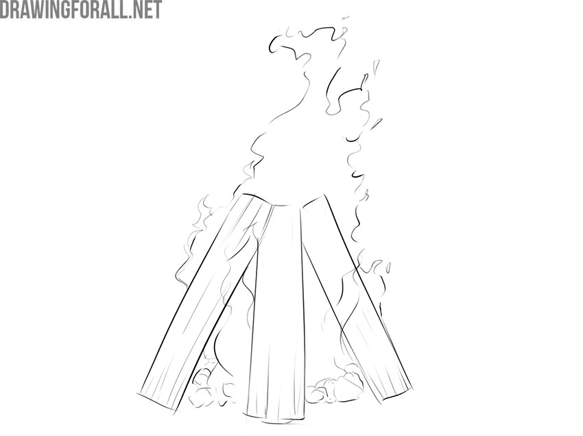 campfire drawing guide