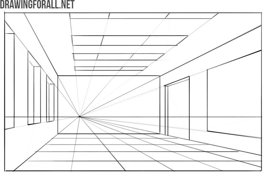 linear perspective in drawing