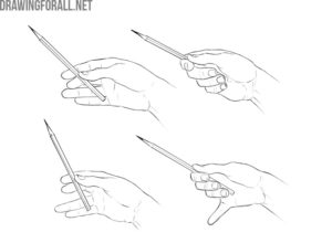 How to Hold a Pencil in drawing