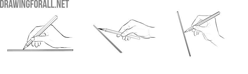 how to properly hold a pencil