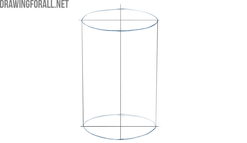 how to draw a cylinder 3d
