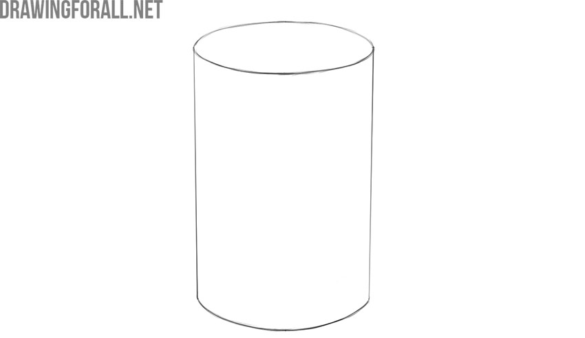 how to draw a 3d cylinder