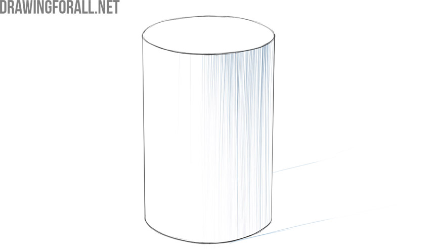 how to draw a cylinder in perspective