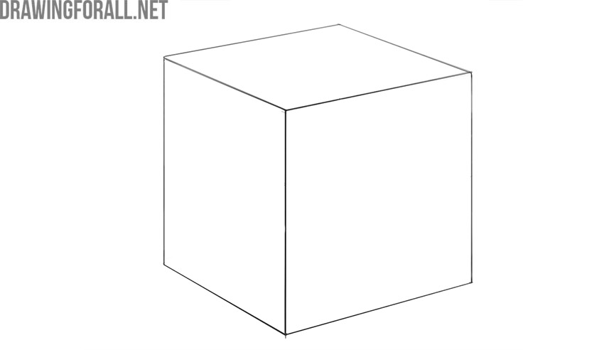 how to draw a perfect cube