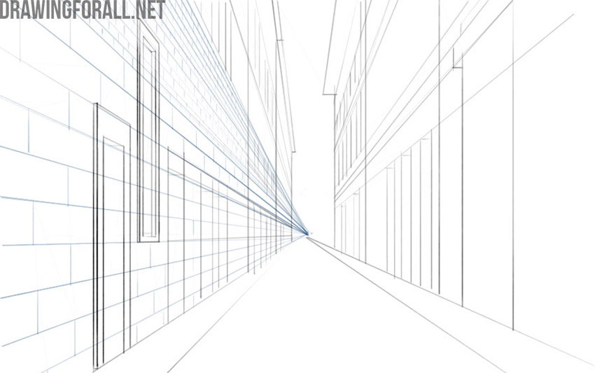how to draw building perspective