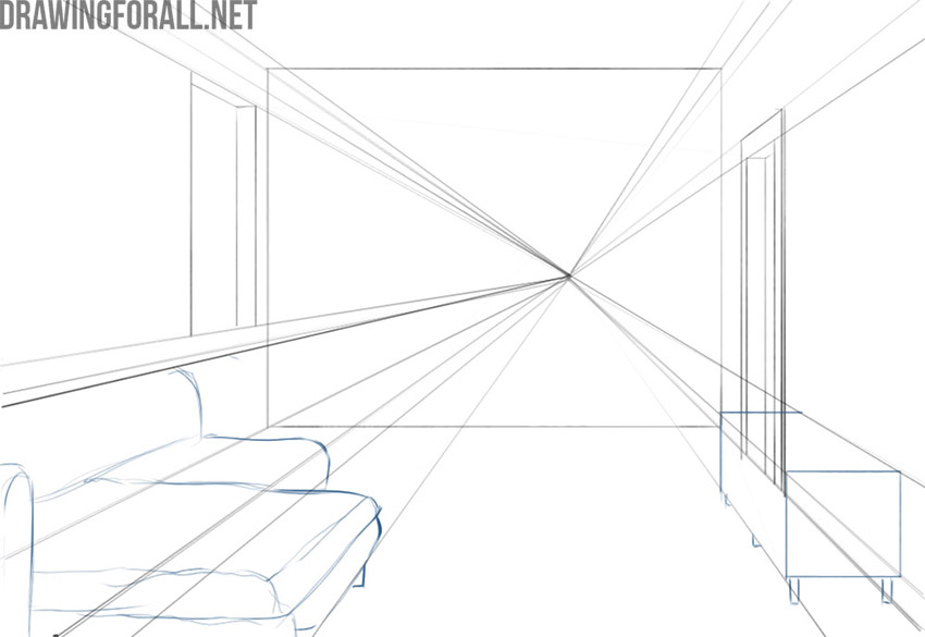 How to draw an interior easy