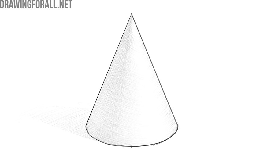 how to draw a cone
