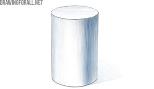 how to draw a cylinder easy