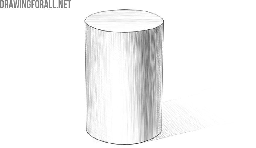 how to draw a cylinder